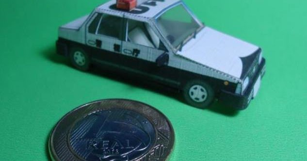 papermau japanese police car paper model with interior by kids nifty. Black Bedroom Furniture Sets. Home Design Ideas