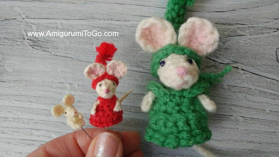 How to make a crochet mouse - free pattern - mallooknits.com | 540x960