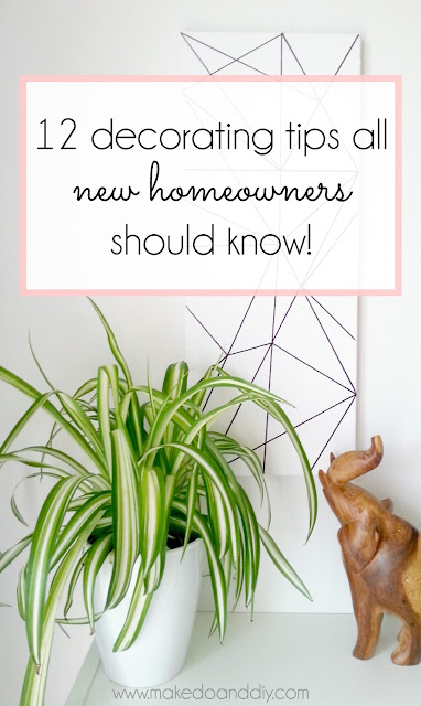 diy decorating tips for new homeowners