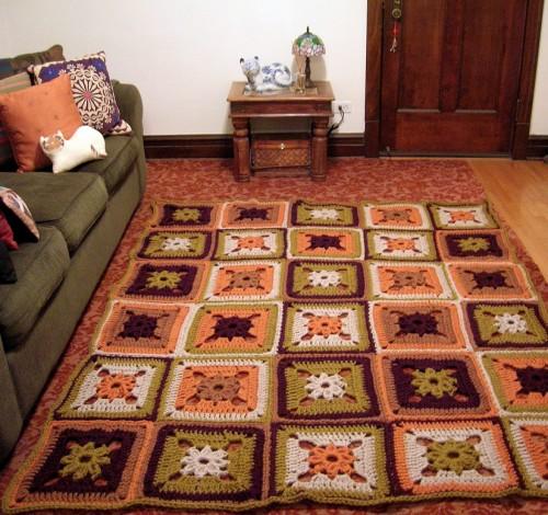 Harvest Patchwork Bedspread - Free Pattern