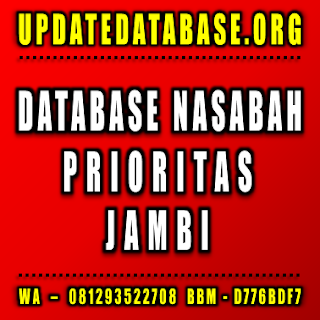 Jual Database Nasabah Prioritas Jambi