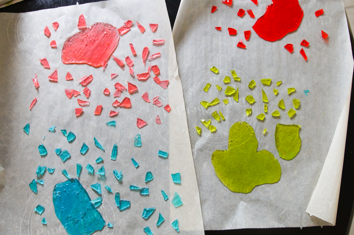 melted jolly ranchers for cookie and cake making