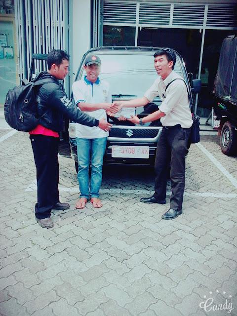 penyerahan kendaraan suzuki cianjur atas nama Muh Aceng Kurnia futura pickup