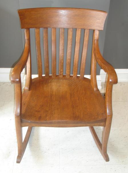 Michael Thomas Quot Sikes Chair Co Quot Oak Rocking Chair