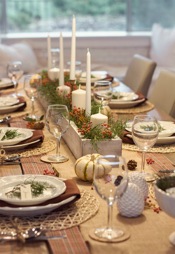 Rustic Thanksgiving Tablescape from Jeanna Sue Design