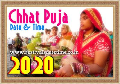 2020 Chhat Puja Dates in India, छठ पूजा 2020 तारीख और समय