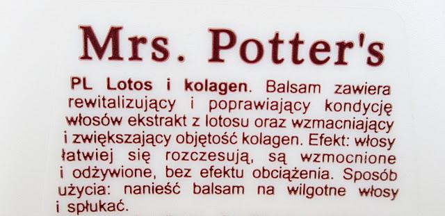 Mrs. Potter's Balsam zwiększający objętość z lotosem i kolagenem