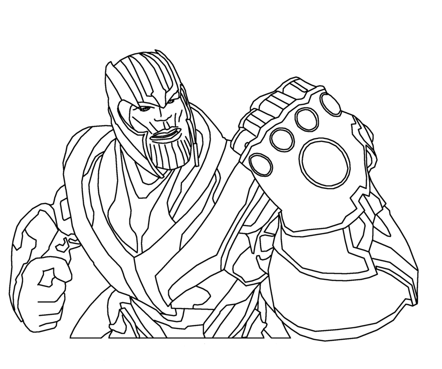 Ausmalbilder Thanos - Thanos zum Ausmalen Nachmalen