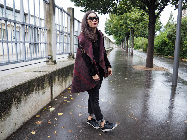 look automne poncho