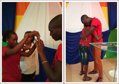 Young Kenyan couple who got married dressed in T-shirts to get bumper packages