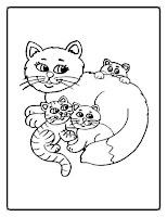 דפי צביעה חתולים