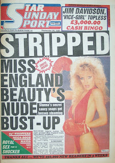 Star Sunday Sport newspaper front page from 20th September 1986