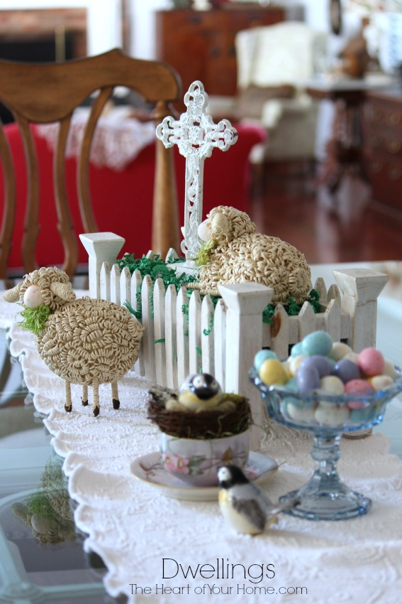 Spring Vignette with Sheep