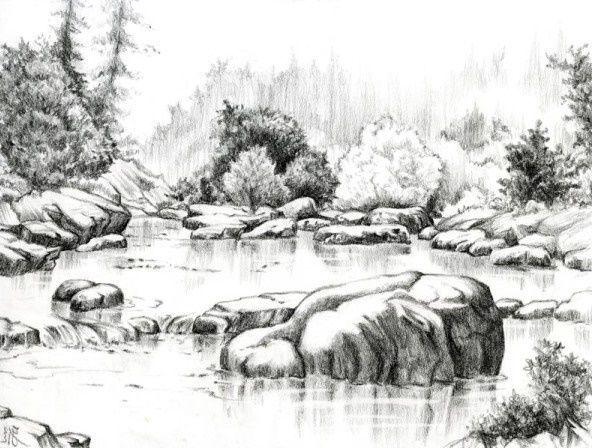 670 Koleksi Gambar Pemandangan Dari Pensil HD Terbaru