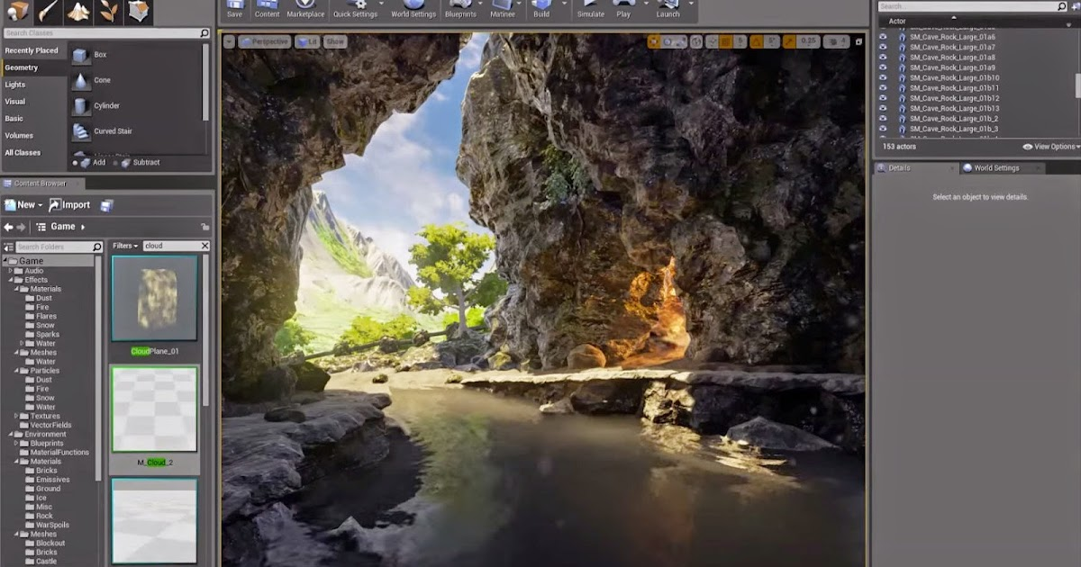 Creating Cave Entrance Scene in Unreal Engine 4 | CG TUTORIAL