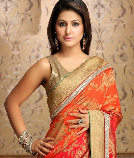 Hina Khan Hot Sext Tight Saree Pants Figure Body Sweet -6285