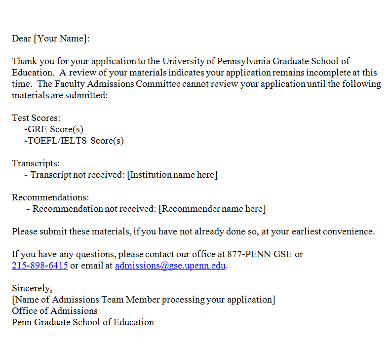 how to write an email to a college admission