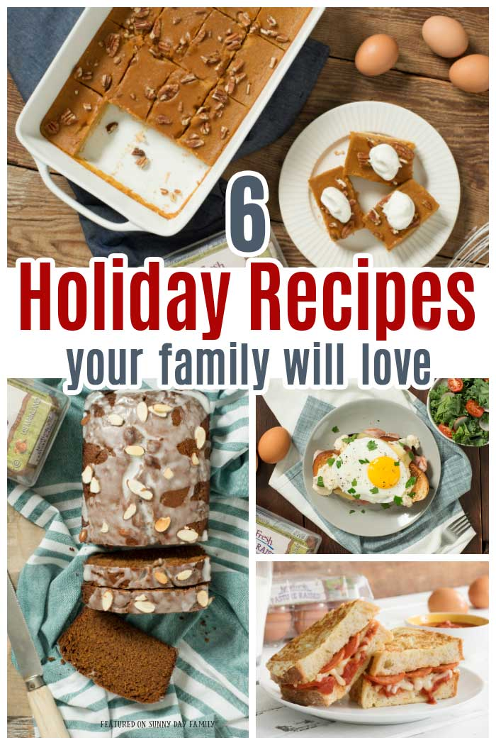 From Christmas brunch to easy dinners to sweet treats, these holiday recipes are sure to be crowd pleasers! #ad #recipes #easyrecipes #dinner #brunch
