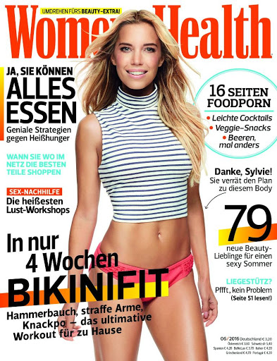 Sylvie Meis – Women's Health Magazine Germany June 2016