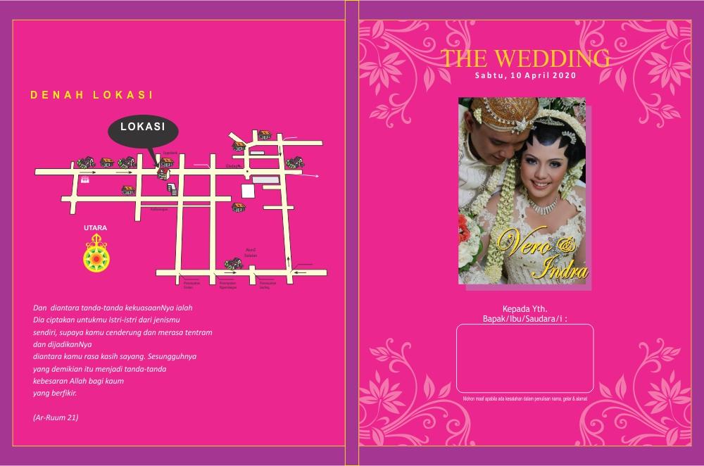 Undangan Pernikahan Pink