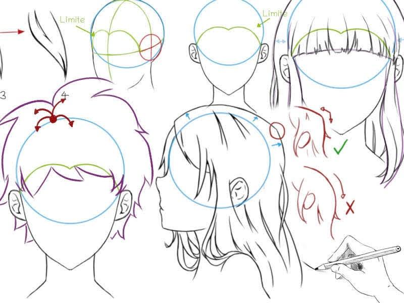 Les Cours Mangas D Inari Sensei Tutoriel Les Bases Pour Dessiner Des Cheveux