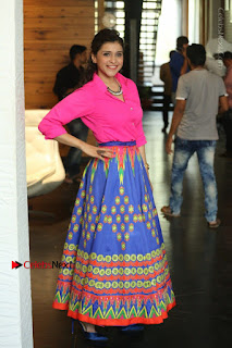 Actress Mannar Chopra in Pink Top and Blue Skirt at Rogue movie Interview  0103.JPG