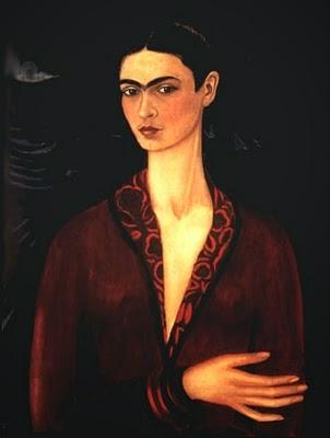 Autorretrato em um Vestido de Veludo - Frida Kahlo e suas pinturas ~ Pintora comunista e revolucionária