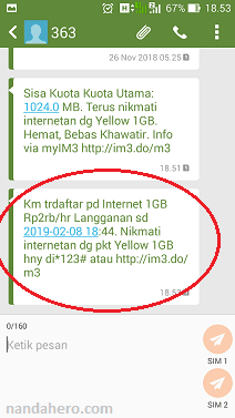Cara Cek Status Paket Indosat Ooredoo