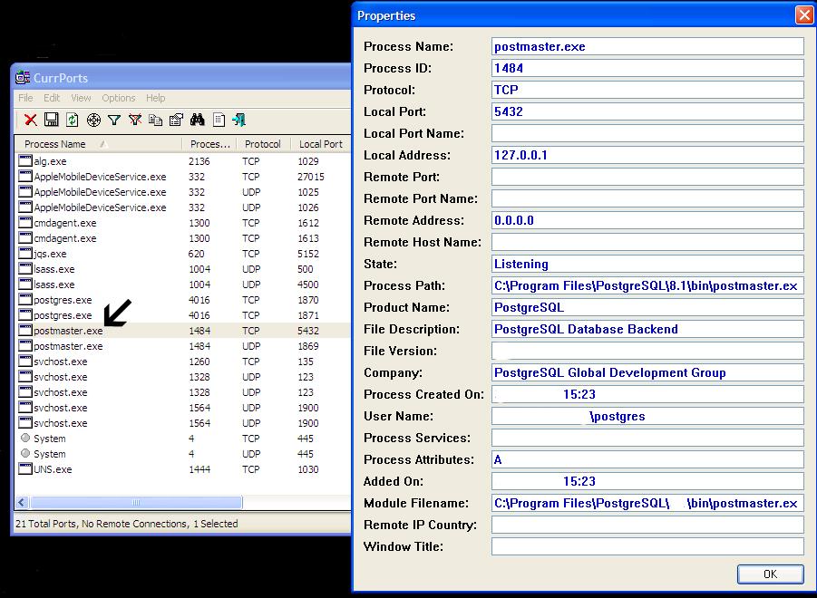 melihat detail aplikasi yang berjalan pada windows - cports