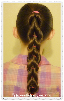 Twisted pull through braid tutorial. (Cute variation of the original braid.)