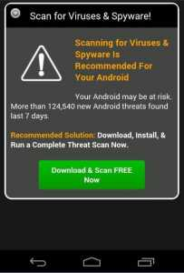 Fake Android Malware Virus Ads Mobile
