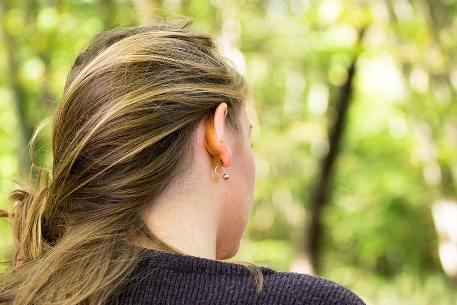 happiness boutique e-shop bijoux boucles d'oreilles double balles
