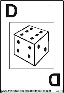 Baralho alfabético letra D
