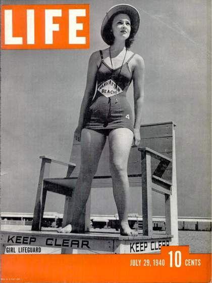 29 July 1940 worldwartwo.filminspector.com girl lifeguard