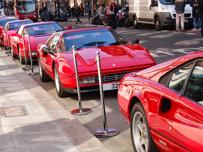 Ferraris in a line
