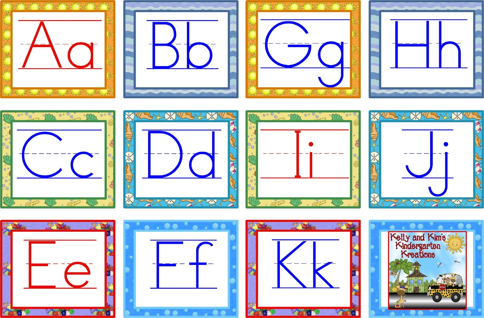 Word Wall Letters Template