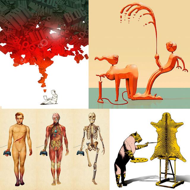 rhonald blommestijn; editorial illustrations