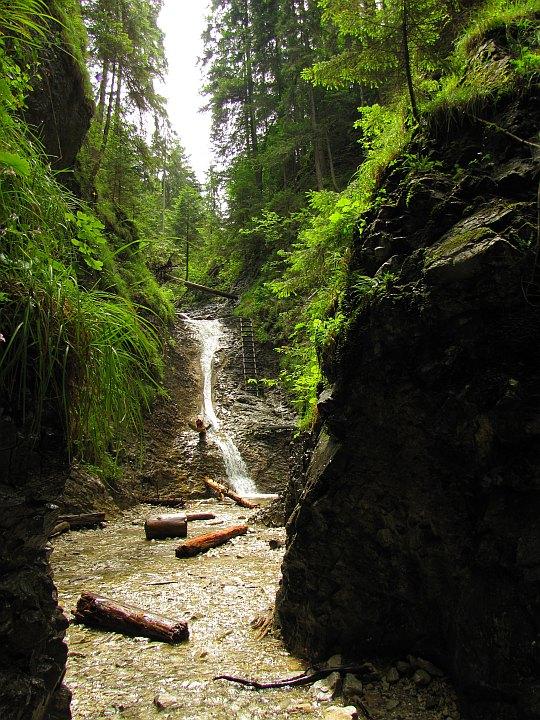Słowacki Raj - Suchá Belá. Wodospad Korytowy (słow. Korytový vodopád).