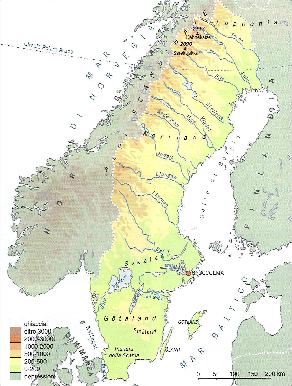 Cartina Muta Paesi Scandinavi