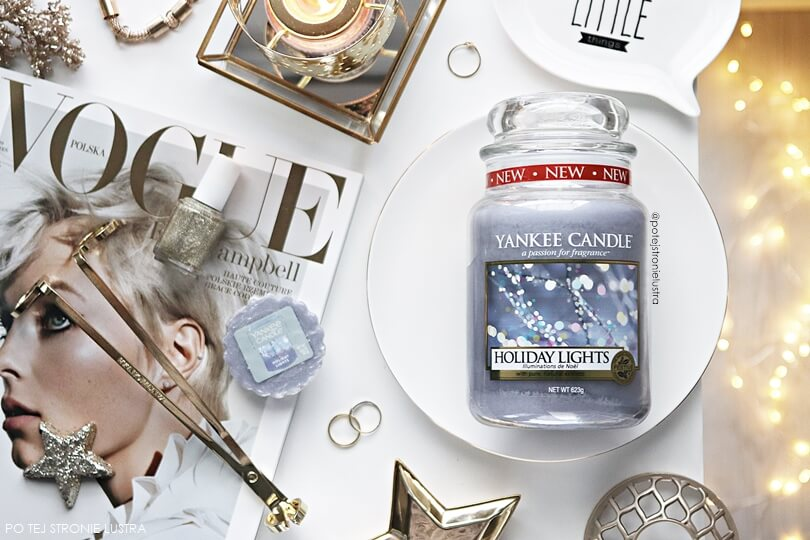 yankee candle holiday lights recenzja blog