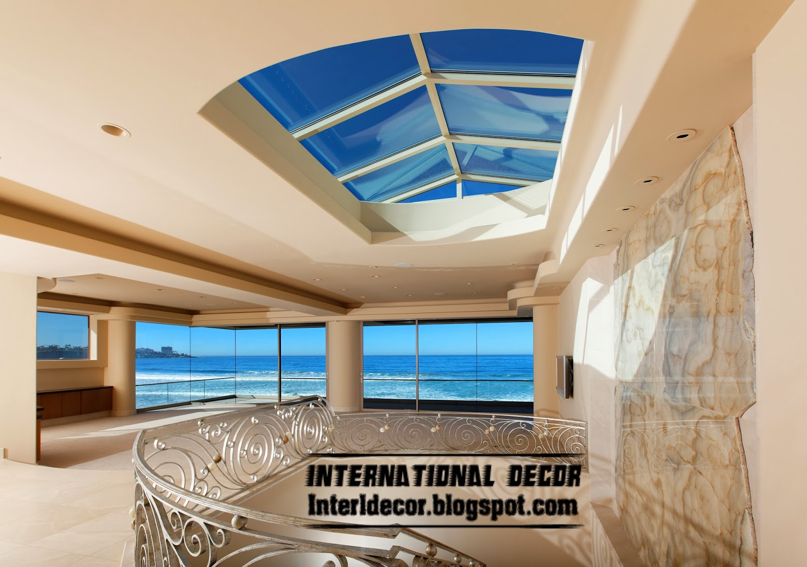 Skylight and roof windows designs types for homes for Roof designs interior