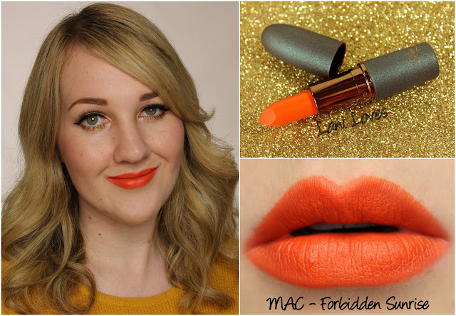 MAC Forbidden Sunrise lipstick swatch