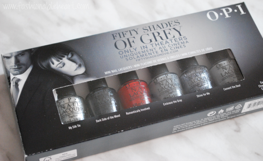 opi fifty shades of grey mini set nail polish
