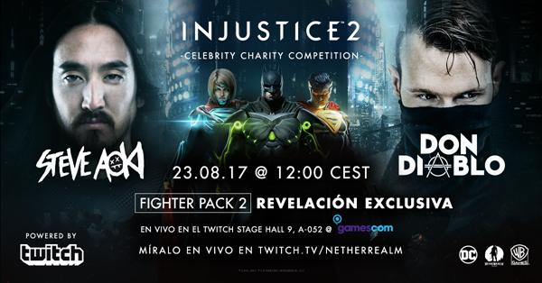Gamescom acogerá competición de DJs Steve Aoki y Don Diablo de Injustice 2
