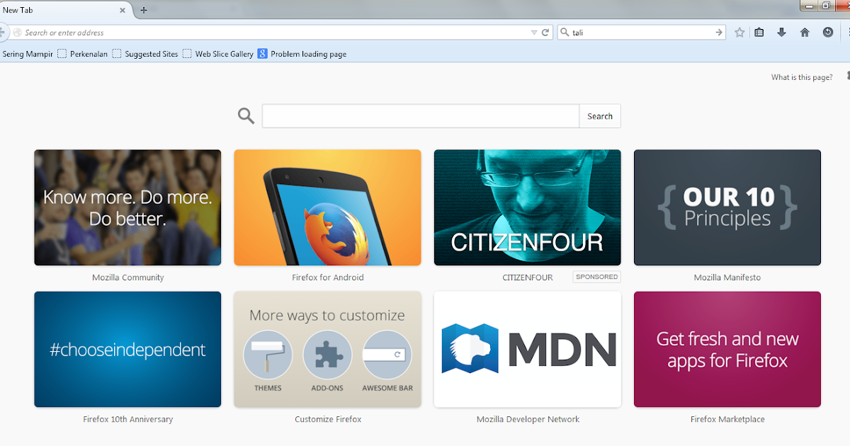 how to change new tab in firefox
