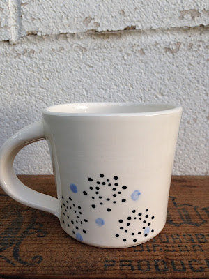 back of owl mug