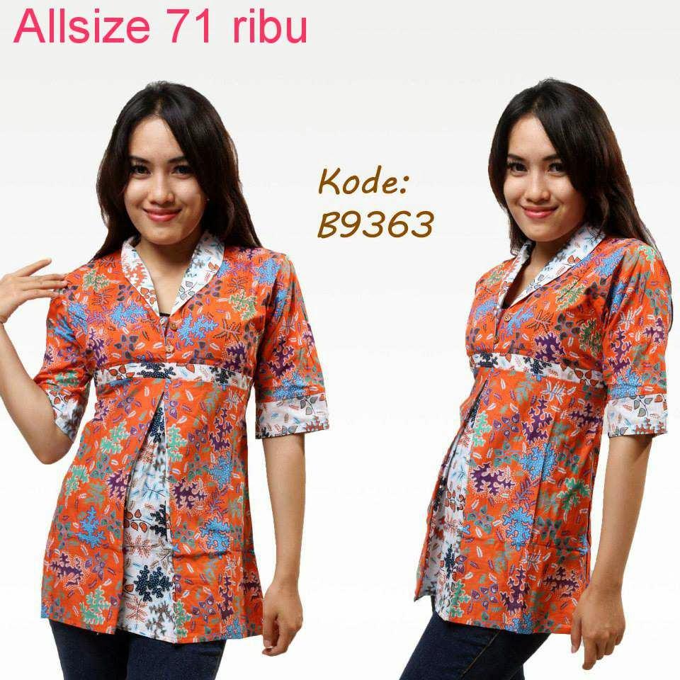 Download Baju Batik Wanita: Contoh Model Baju Batik Kerja