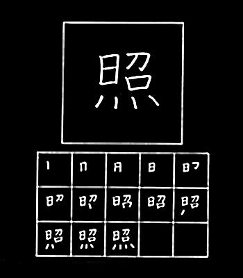 kanji menerangi