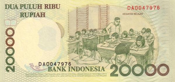 20 ribu rupiah 1998 belakang