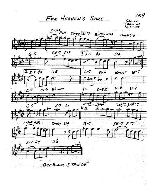 Partitura Saxofón Bill Evans Trio